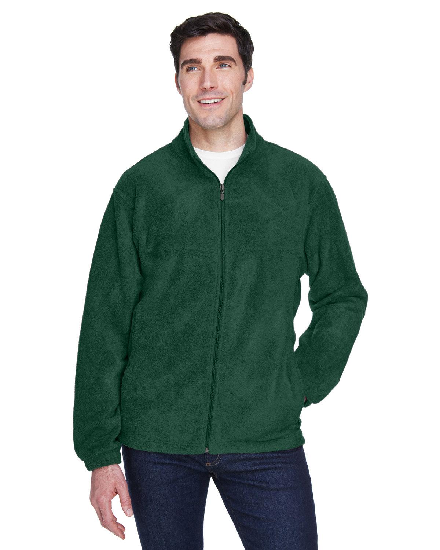 Harriton Men's Tall 8 oz. Full-Zip Fleece HUNTER