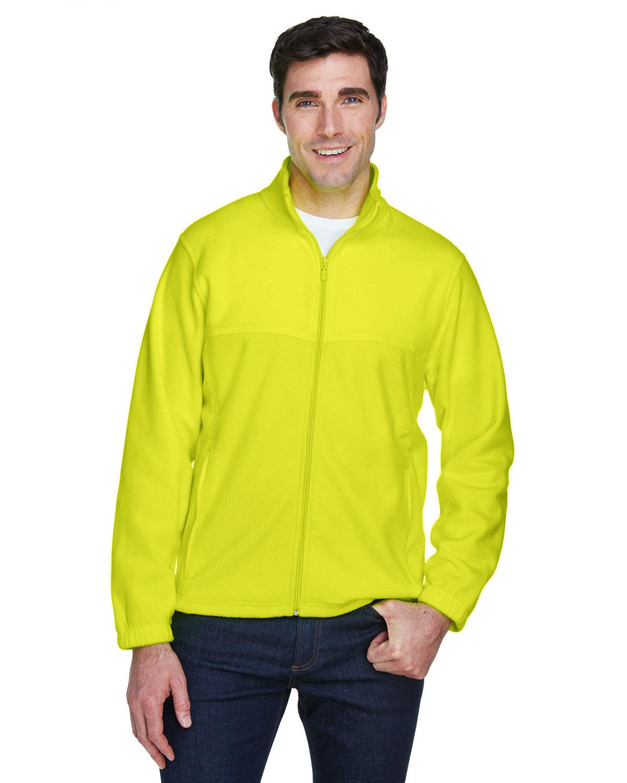 Harriton Men's Tall 8 oz. Full-Zip Fleece SAFETY YELLOW