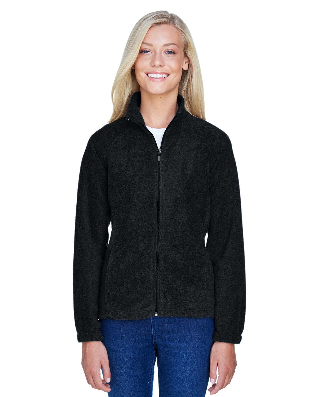 Harriton Ladies' 8 oz. Full-Zip Fleece BLACK