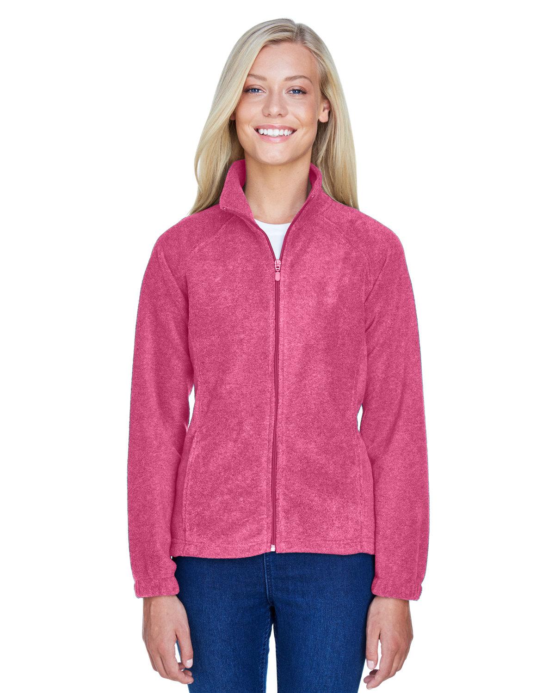 Harriton Ladies' 8 oz. Full-Zip Fleece CHARITY PINK