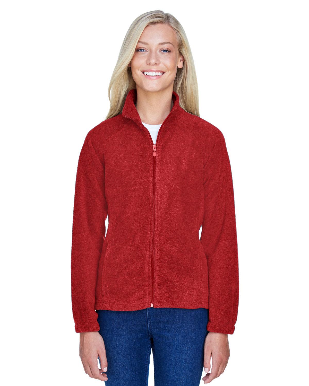 Harriton Ladies' 8 oz. Full-Zip Fleece RED