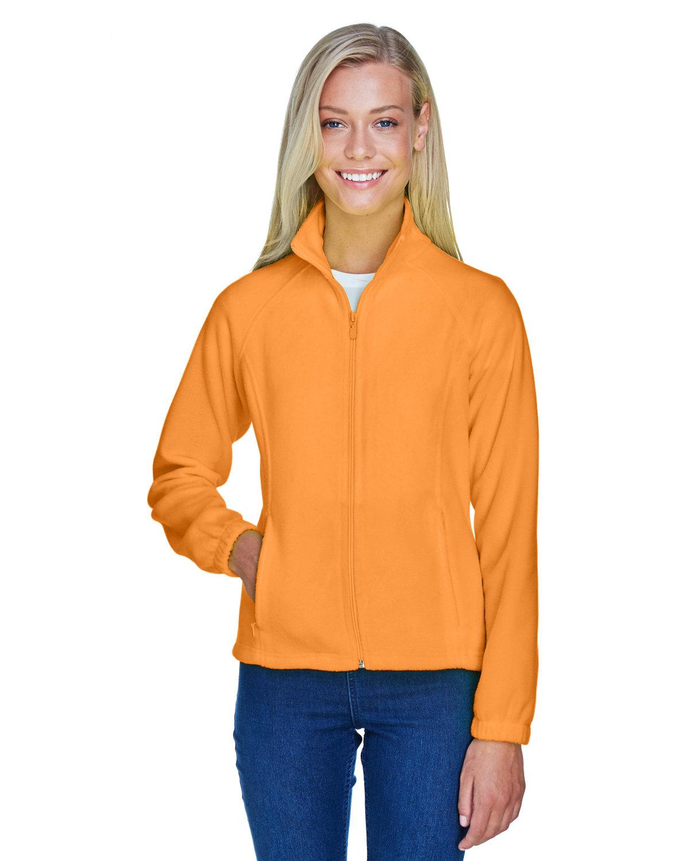 Harriton Ladies' 8 oz. Full-Zip Fleece SAFETY ORANGE