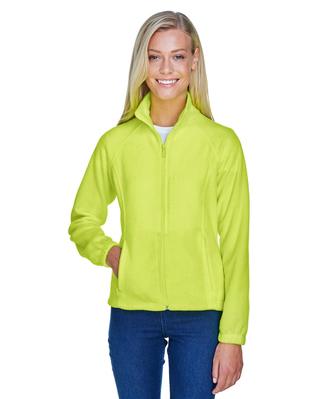Harriton Ladies' 8 oz. Full-Zip Fleece SAFETY YELLOW