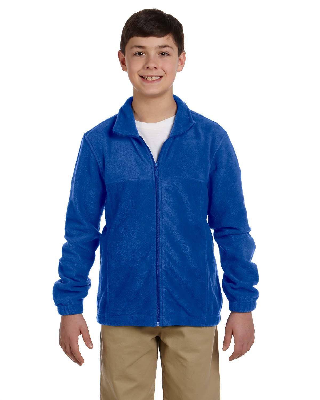 Harriton Youth 8 oz. Full-Zip Fleece TRUE ROYAL