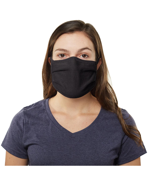 Hanes Adult 100% Cotton Face Mask BLACK