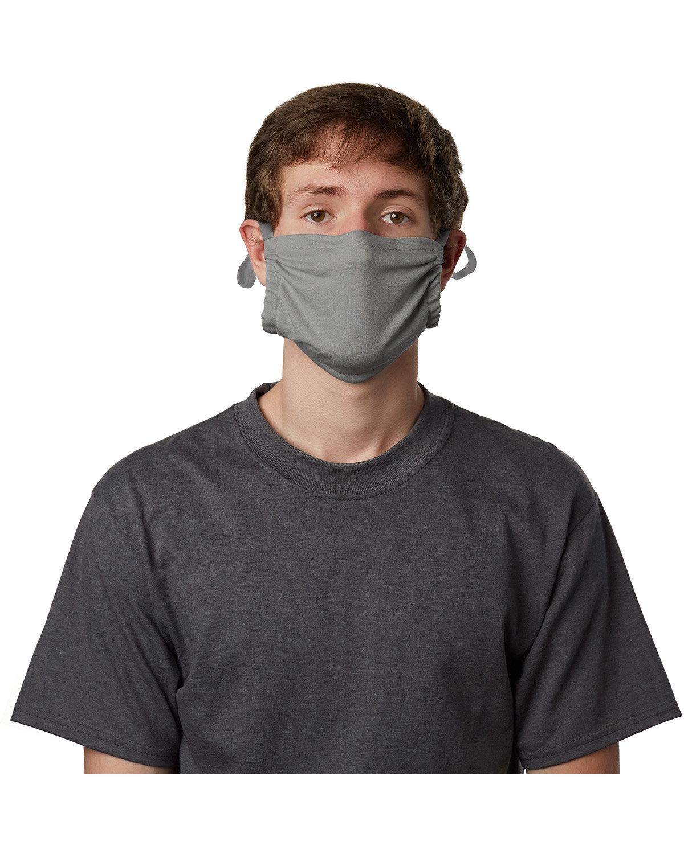 Hanes Adult Cotton Adjustable Pocket Mask CONCRETE