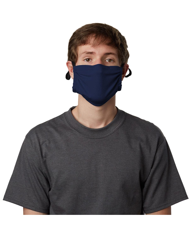 Hanes Adult Cotton Adjustable Pocket Mask NAVY