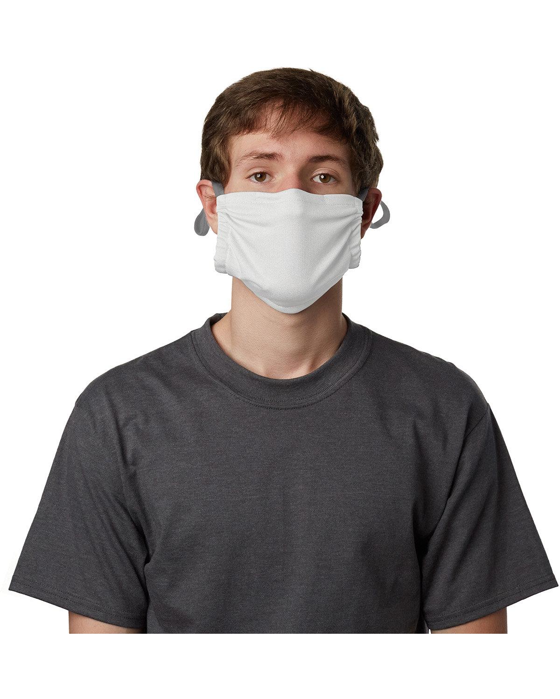 Hanes Adult Polyester Adjustable Pocket Mask WHITE