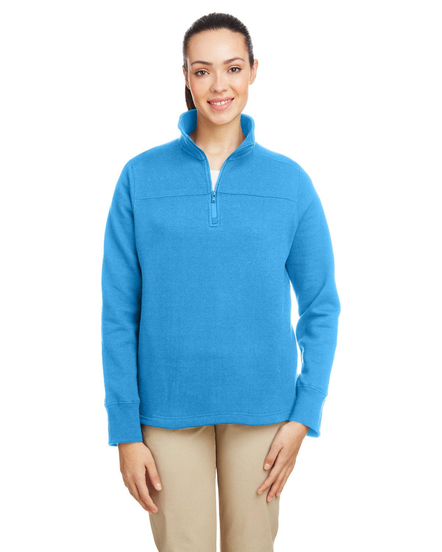 Nautica Ladies' Anchor Quarter-Zip Pullover AZURE BLUE
