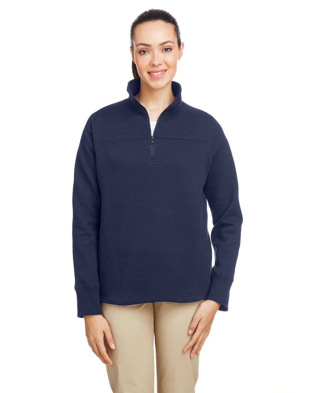 Nautica Ladies' Anchor Quarter-Zip Pullover NAUTICA NAVY
