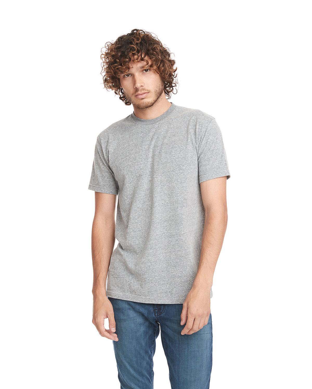 Next Level Unisex Ideal Heavyweight Cotton Crewneck T-Shirt HEATHER GRAY