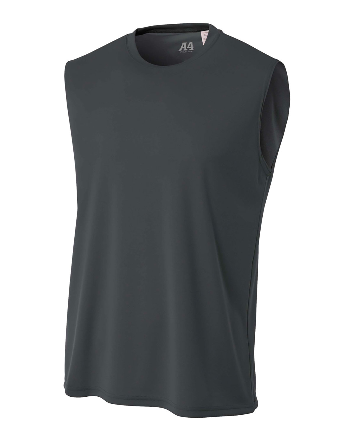 A4 Men's Cooling Performance Muscle T-Shirt GRAPHITE