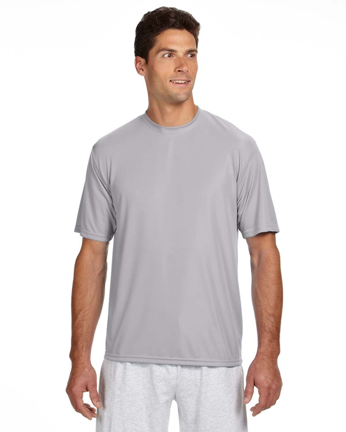 A4 Men's Cooling Performance T-Shirt SILVER