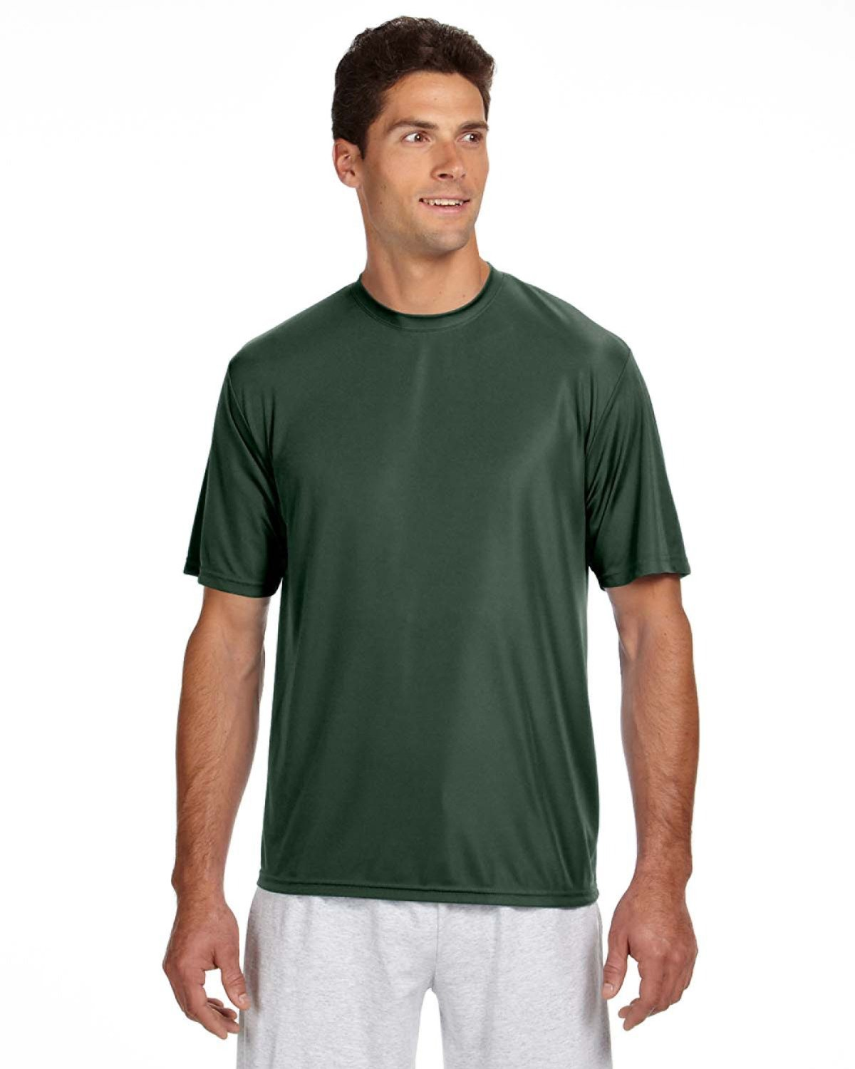 A4 Men's Cooling Performance T-Shirt FOREST GREEN