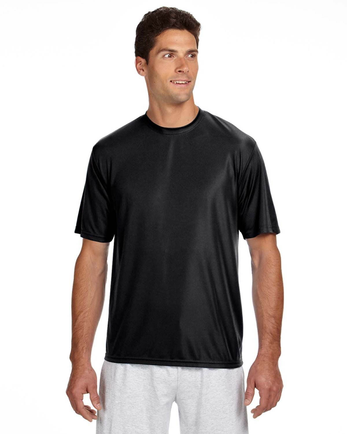 A4 Men's Cooling Performance T-Shirt BLACK