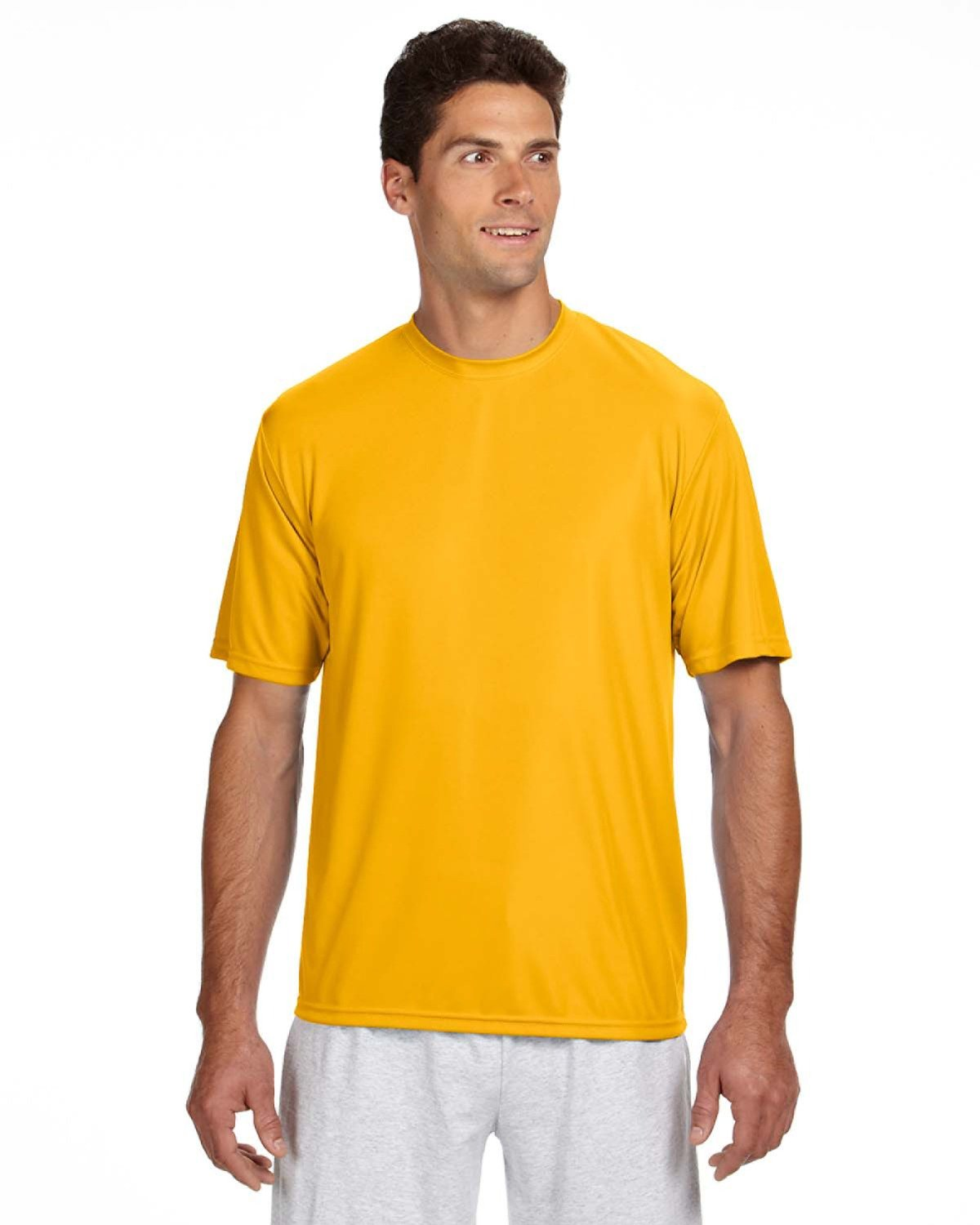 A4 Men's Cooling Performance T-Shirt GOLD