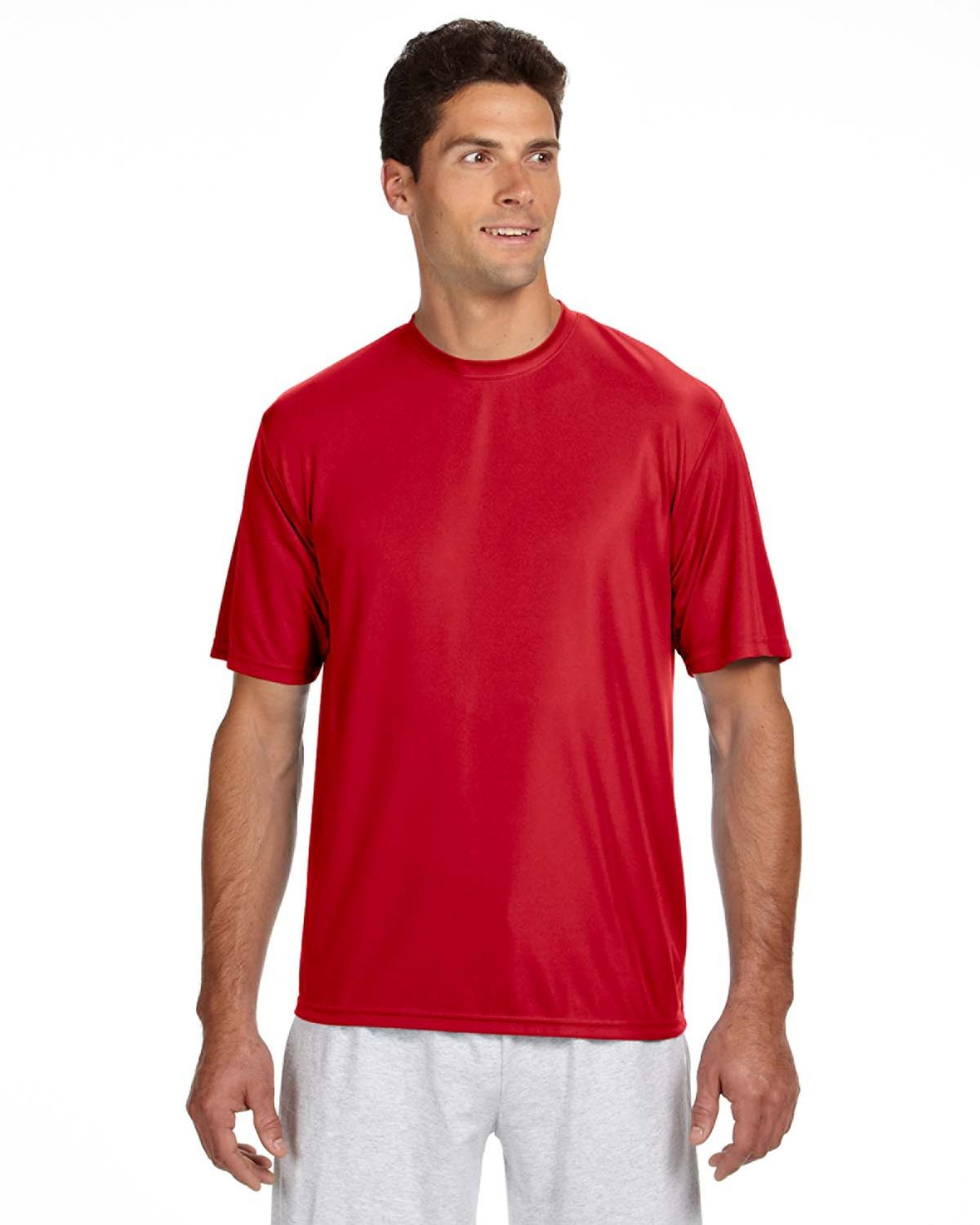 A4 Men's Cooling Performance T-Shirt SCARLET