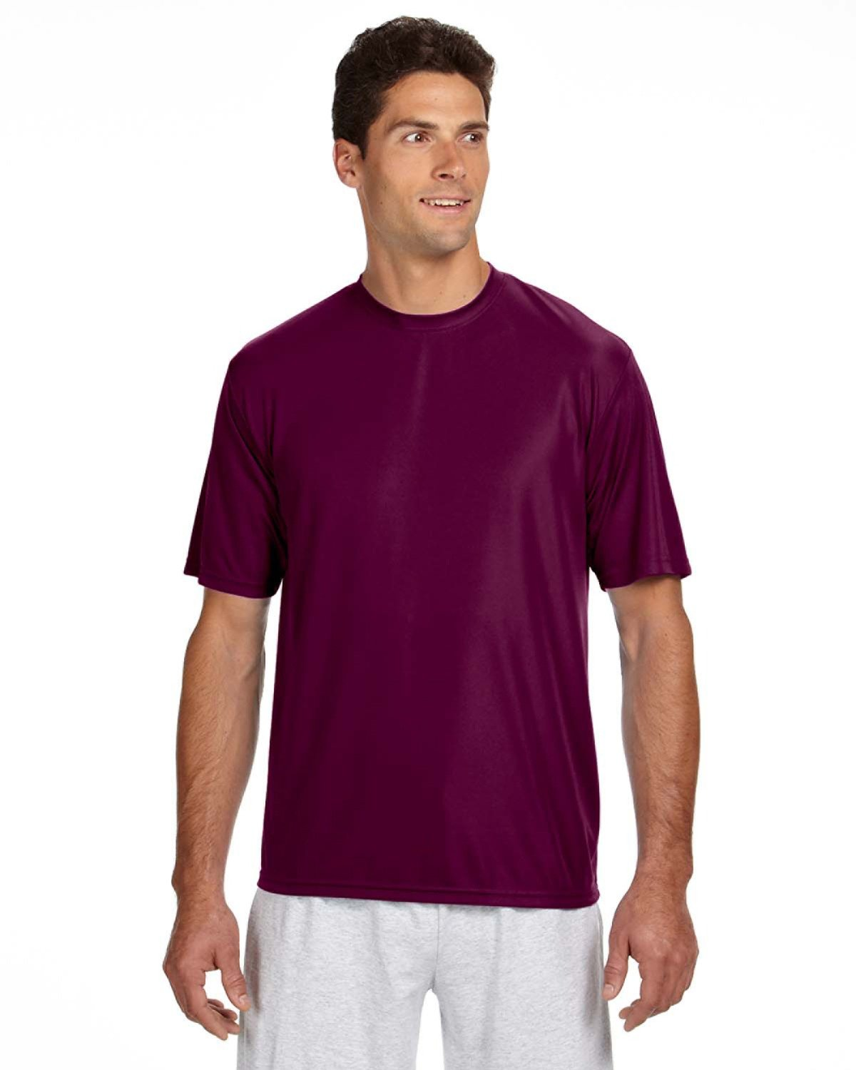 A4 Men's Cooling Performance T-Shirt MAROON