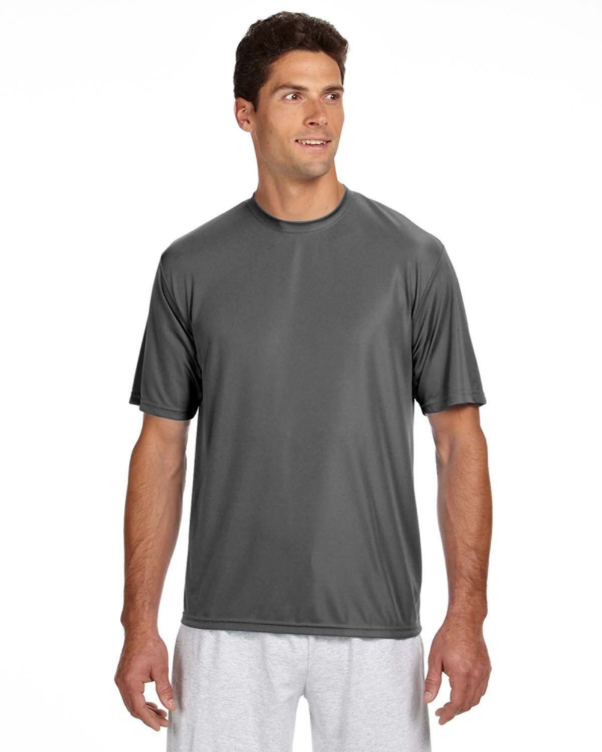 A4 Men's Cooling Performance T-Shirt GRAPHITE
