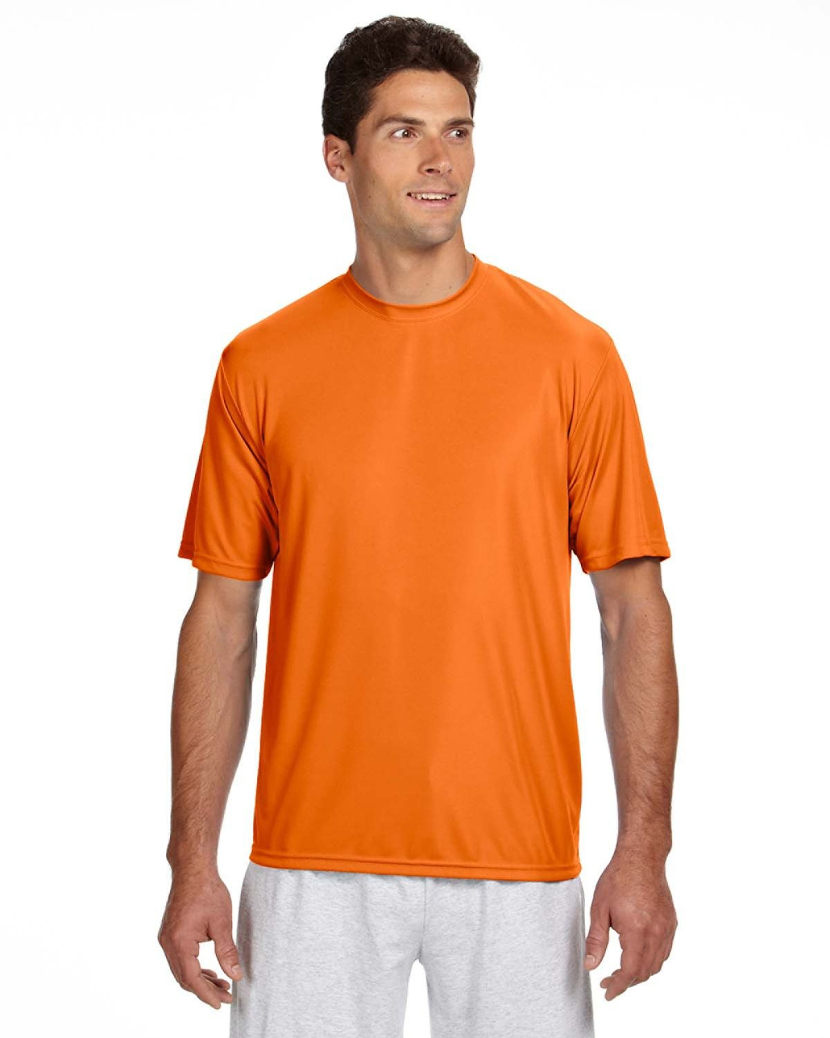 A4 Men's Cooling Performance T-Shirt SAFETY ORANGE