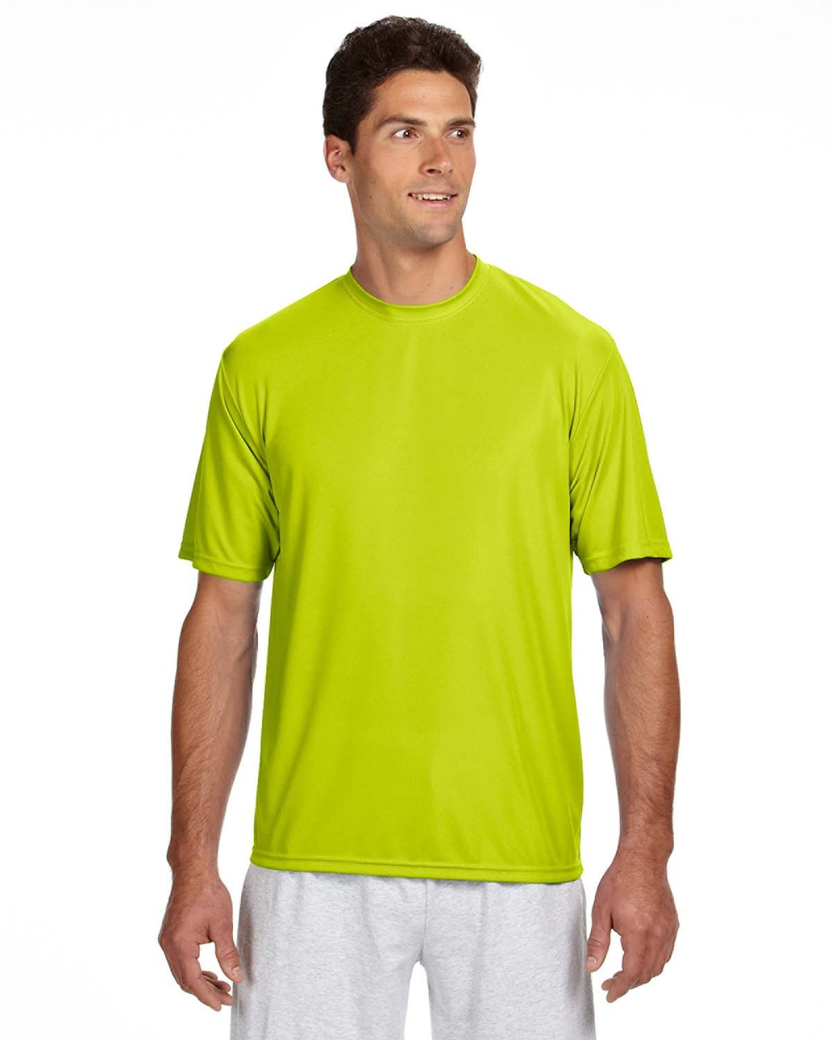 A4 Men's Cooling Performance T-Shirt SAFETY YELLOW