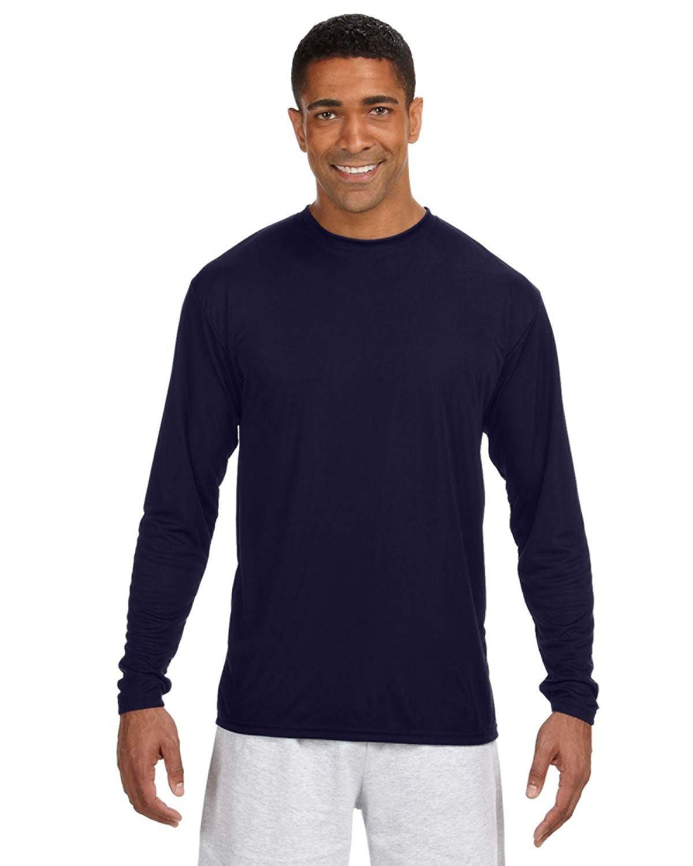 A4 Men's Cooling Performance Long Sleeve T-Shirt NAVY