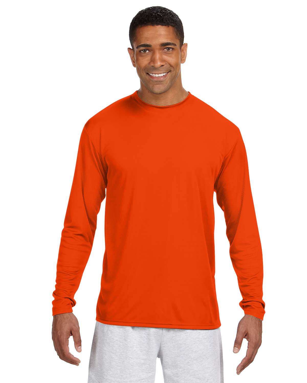 A4 Men's Cooling Performance Long Sleeve T-Shirt ATHLETIC ORANGE
