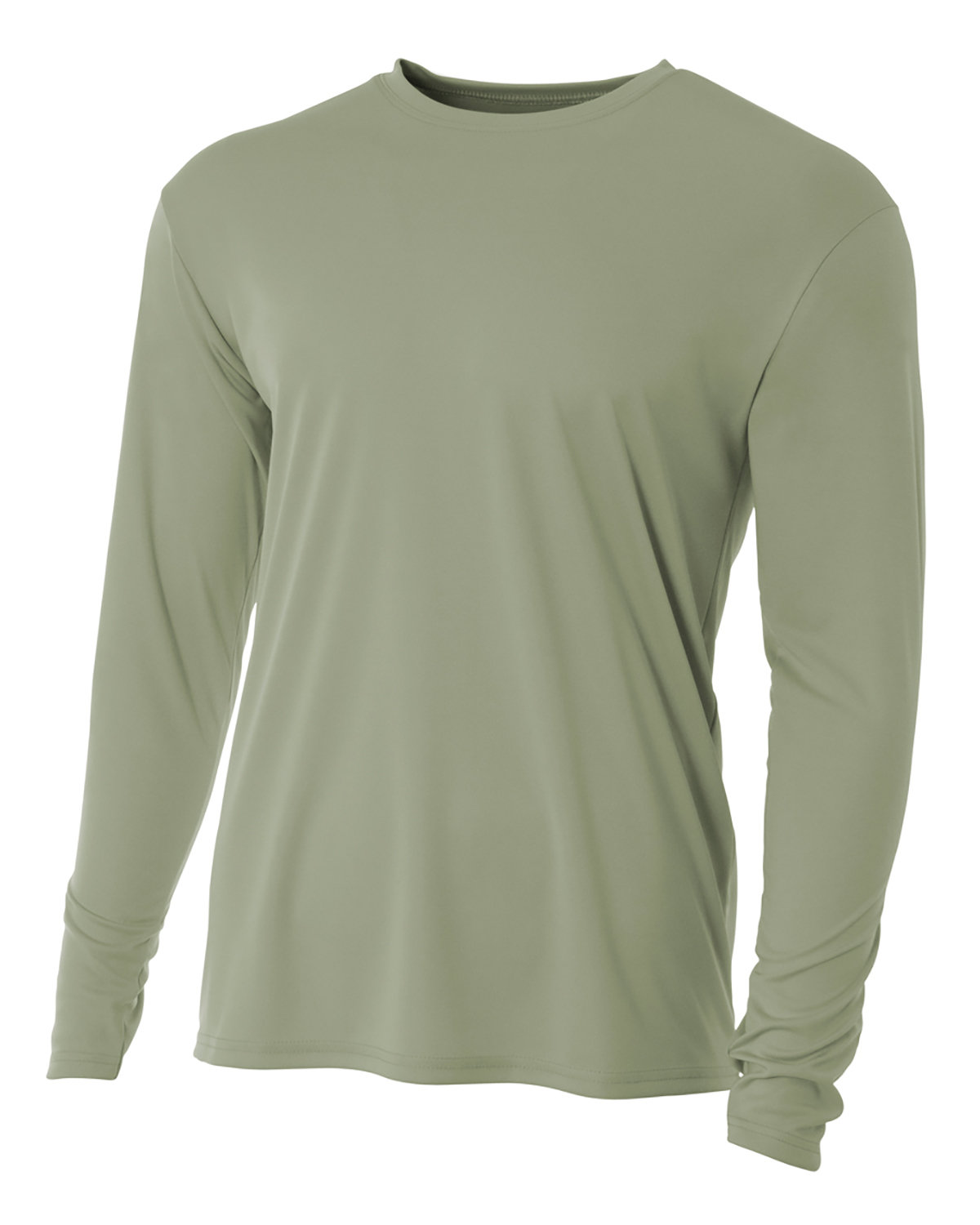 A4 Men's Cooling Performance Long Sleeve T-Shirt OLIVE