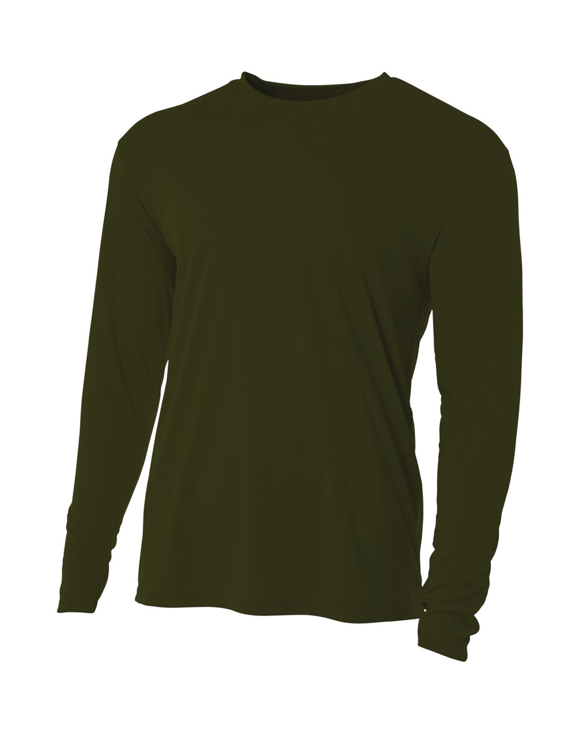 A4 Men's Cooling Performance Long Sleeve T-Shirt MILITARY GREEN