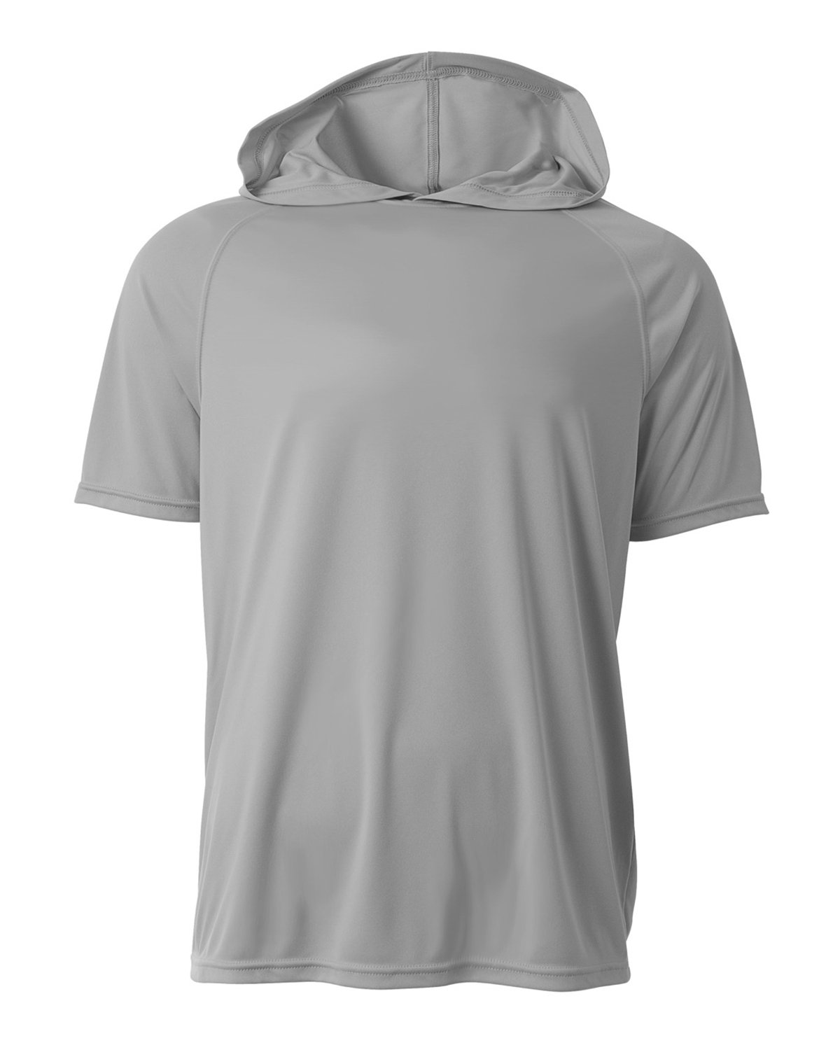 A4 Men's Cooling Performance Hooded T-shirt SILVER