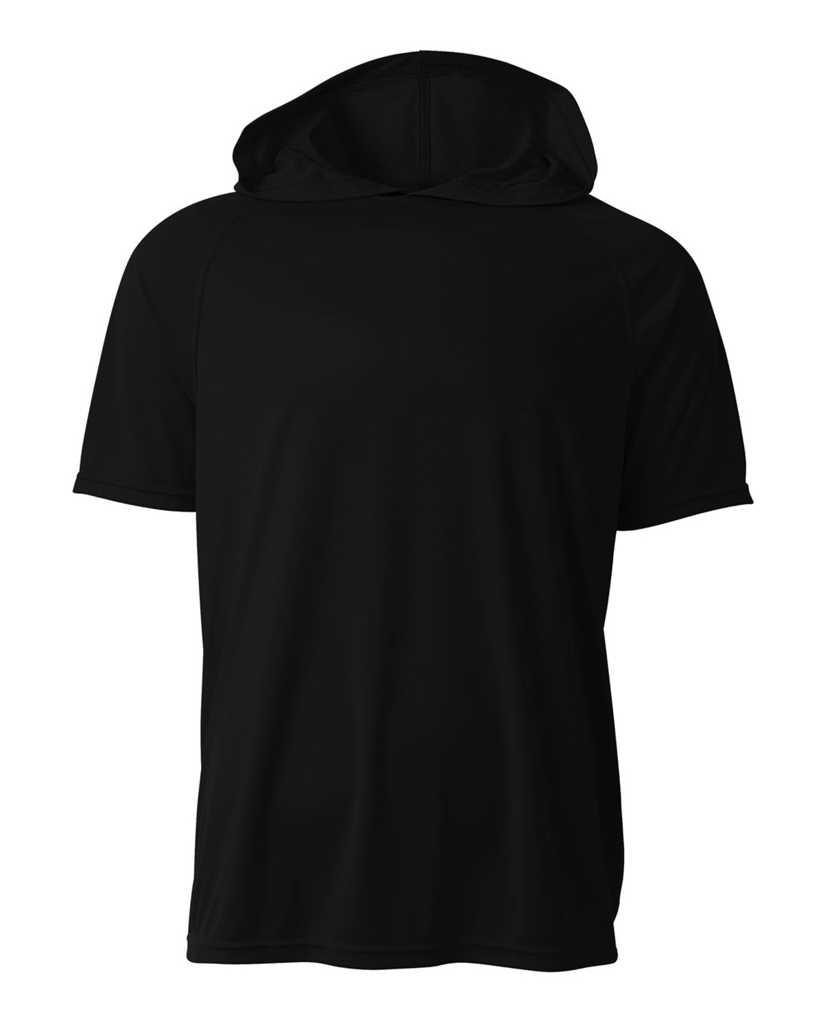 A4 Men's Cooling Performance Hooded T-shirt BLACK