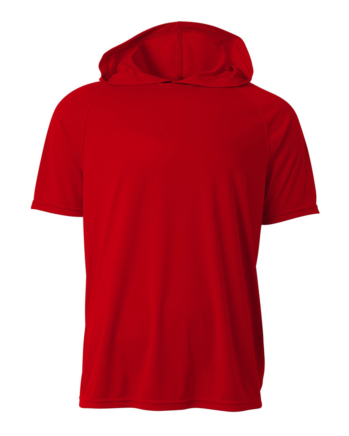 A4 Men's Cooling Performance Hooded T-shirt SCARLET