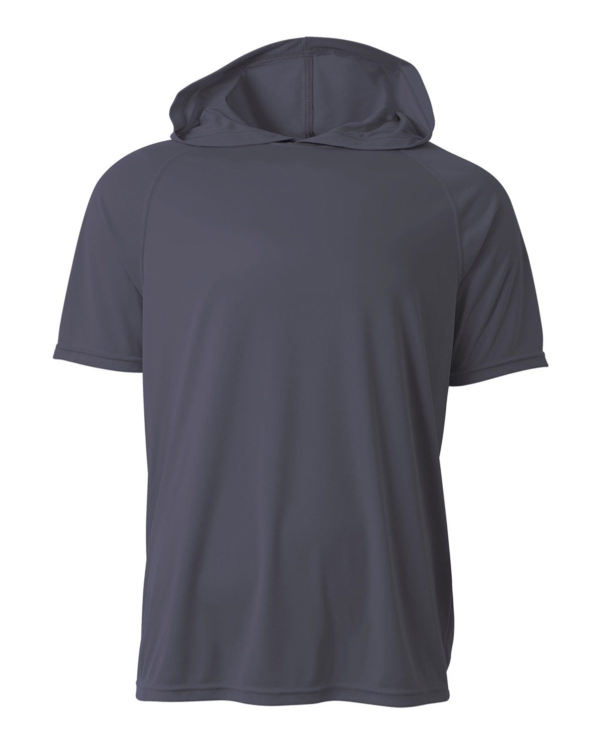 A4 Men's Cooling Performance Hooded T-shirt GRAPHITE