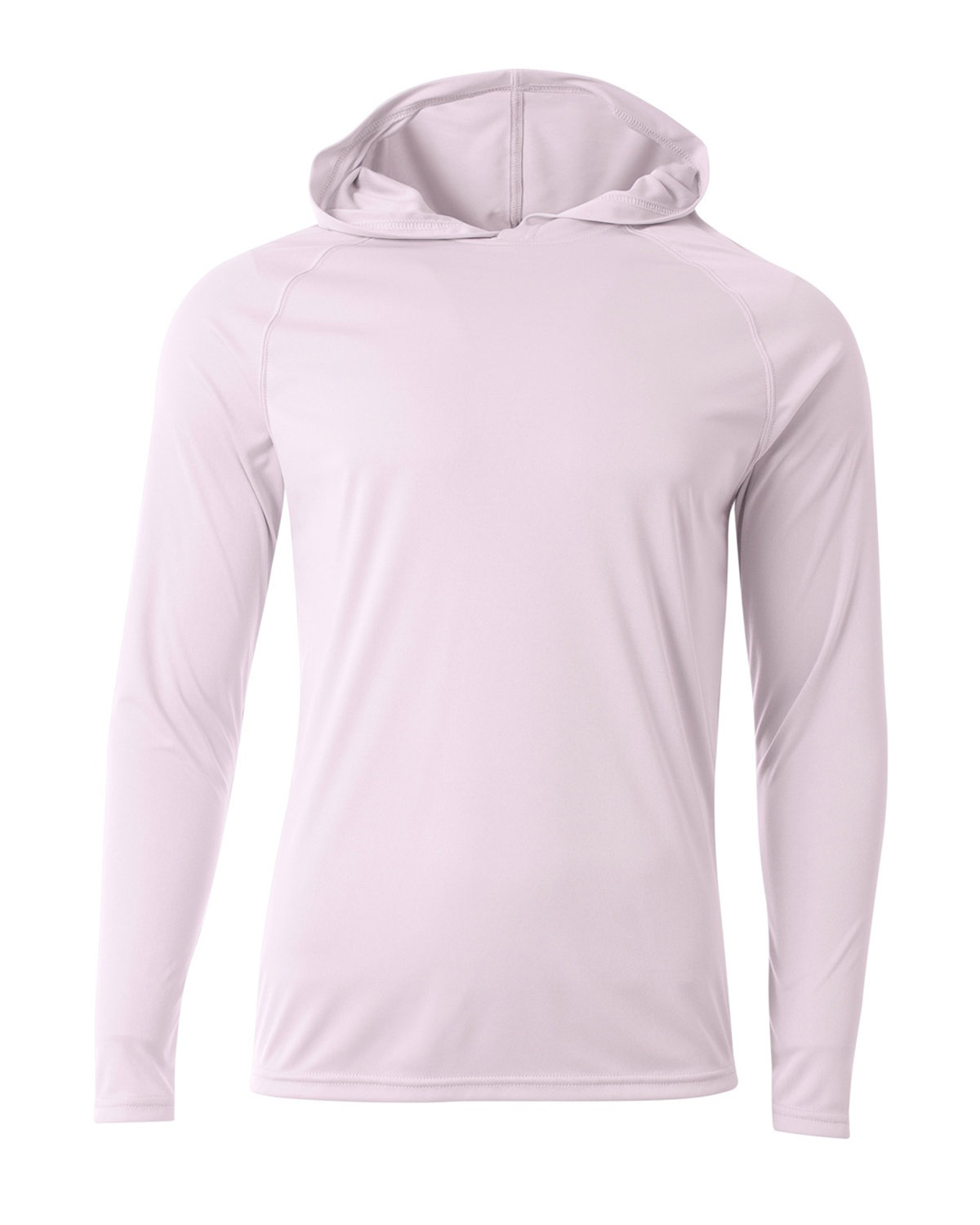 A4 Men's Cooling Performance Long-Sleeve Hooded T-shirt WHITE