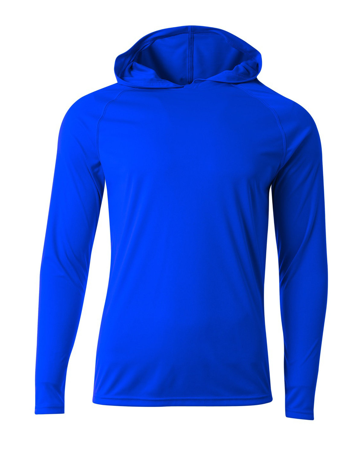 A4 Men's Cooling Performance Long-Sleeve Hooded T-shirt ROYAL