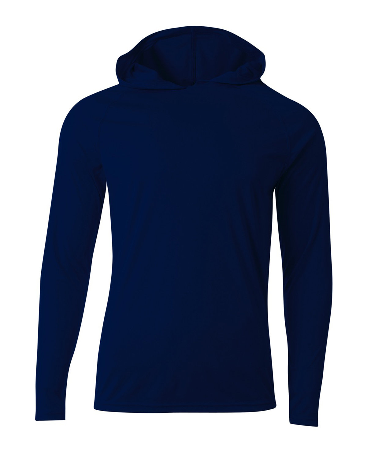 A4 Men's Cooling Performance Long-Sleeve Hooded T-shirt NAVY