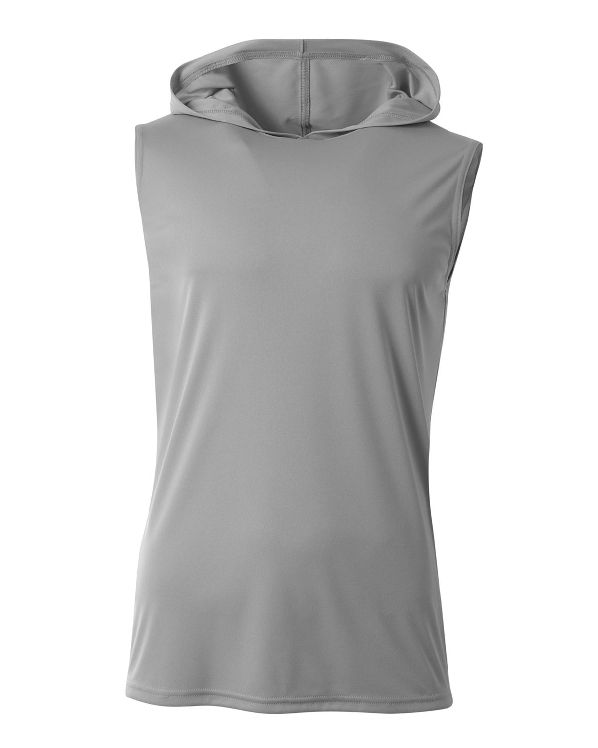A4 Men's Cooling Performance Sleeveless Hooded T-shirt SILVER