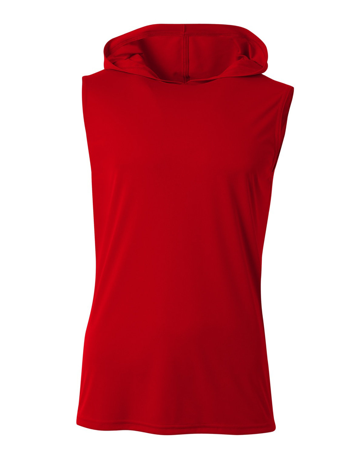 A4 Men's Cooling Performance Sleeveless Hooded T-shirt SCARLET