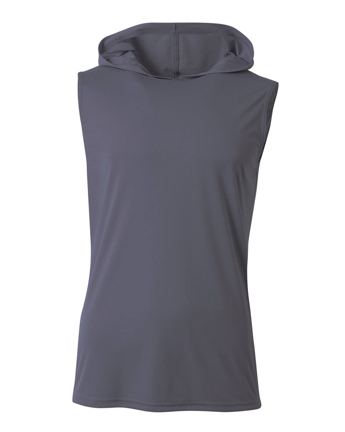 A4 Men's Cooling Performance Sleeveless Hooded T-shirt GRAPHITE