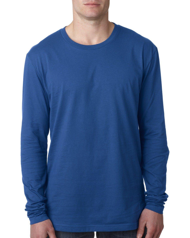 Next Level Men's Cotton Long-Sleeve Crew COOL BLUE