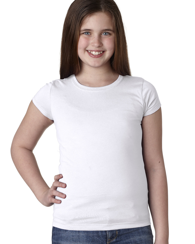 Next Level Youth Girls' Princess T-Shirt WHITE