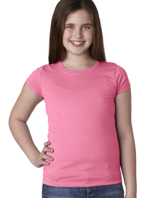 Next Level Youth Girls' Princess T-Shirt HOT PINK