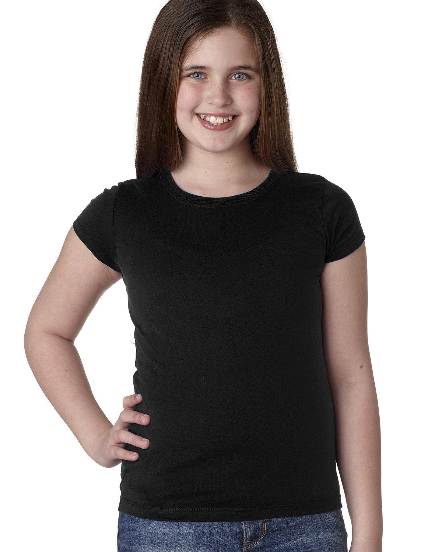 Next Level Youth Girls' Princess T-Shirt BLACK