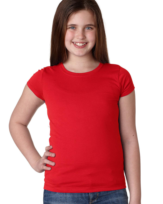 Next Level Youth Girls' Princess T-Shirt RED