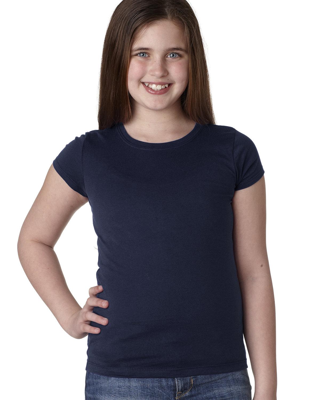 Next Level Youth Girls' Princess T-Shirt MIDNIGHT NAVY