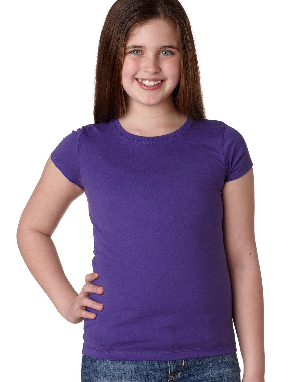 Next Level Youth Girls' Princess T-Shirt PURPLE RUSH