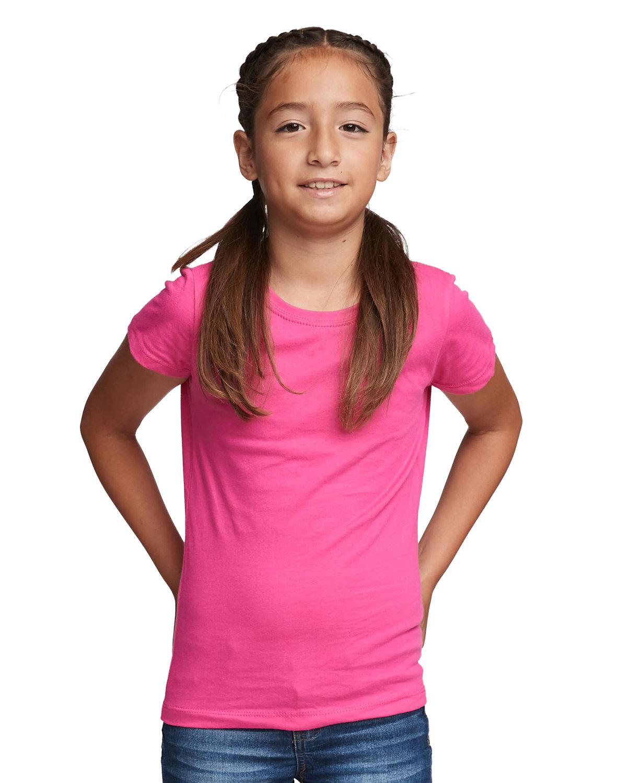 Next Level Youth Girls' Princess T-Shirt RASPBERRY