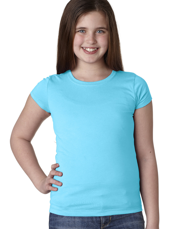 Next Level Youth Girls' Princess T-Shirt TAHITI BLUE