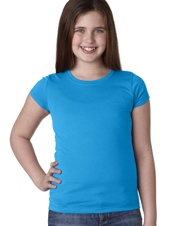 Next Level Youth Girls' Princess T-Shirt TURQUOISE