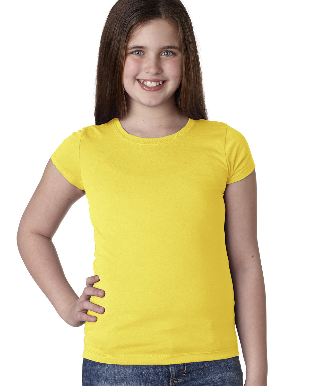 Next Level Youth Girls' Princess T-Shirt VIBRANT YELLOW